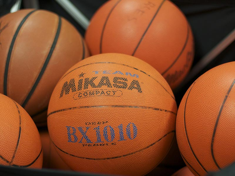 What is the official size of an NBA basketball?